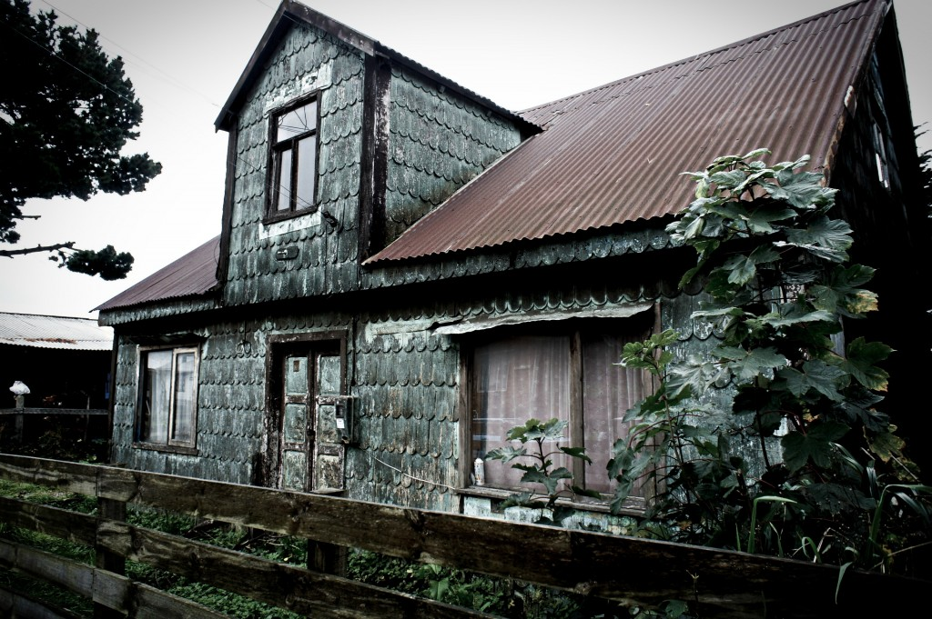 Scary wooden house in Ancud