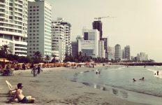 The beach Bocagrande in Cartagena