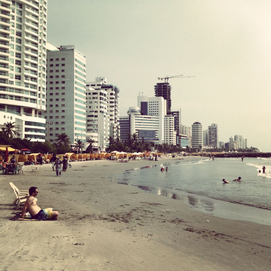 The beach Bocagrande in Cartagena