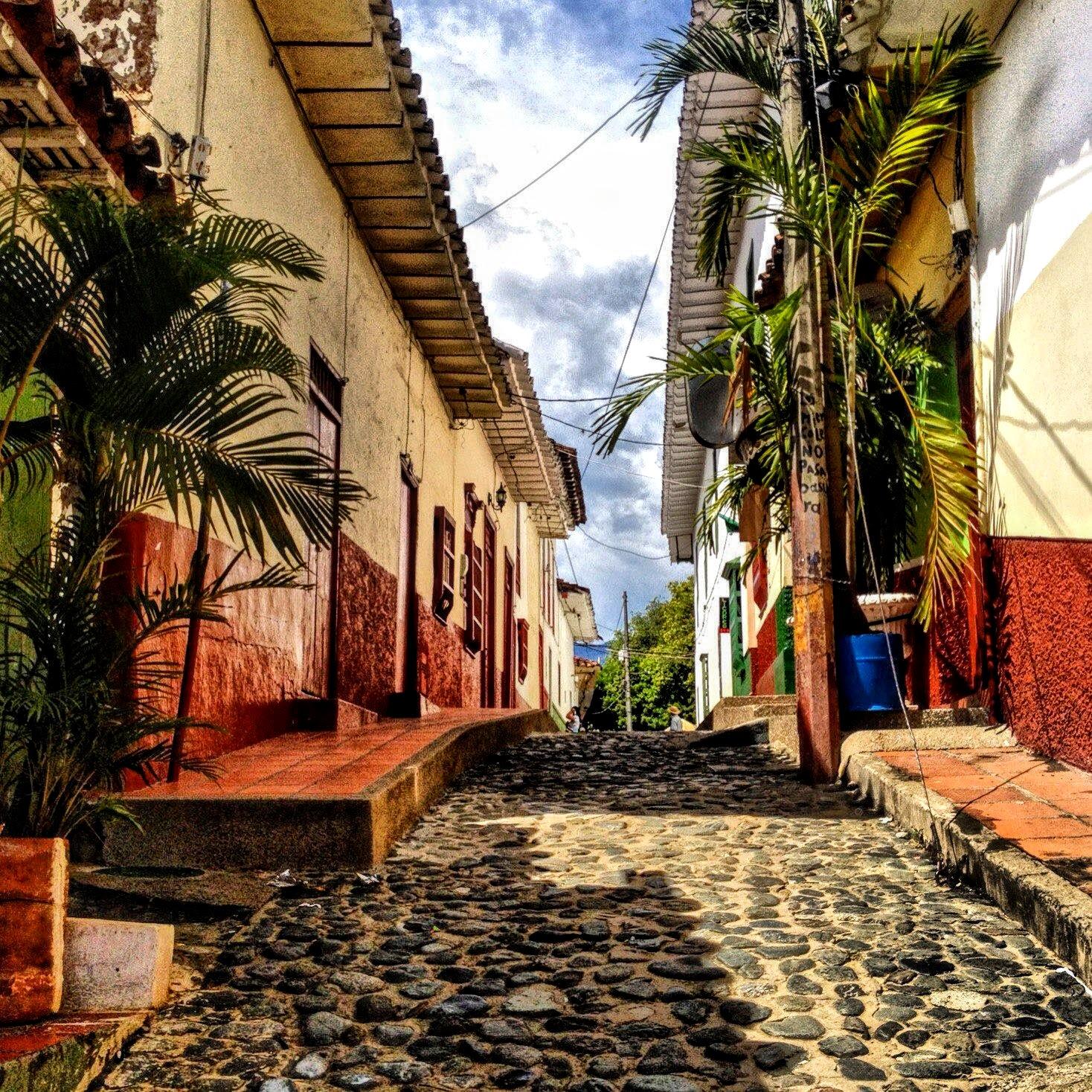 Cobblestone streets Santa Fe de Antioquia