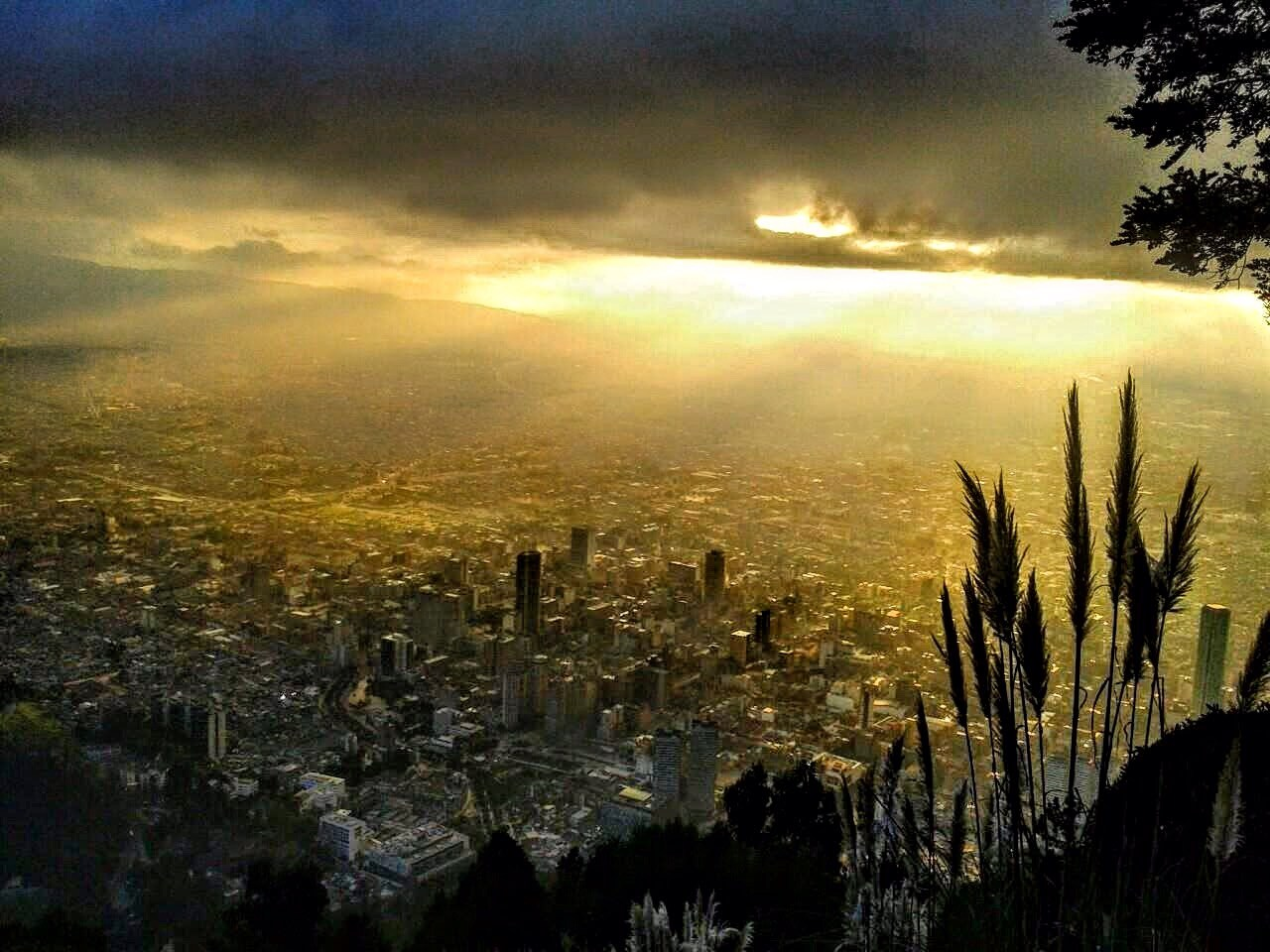 Ausblick aug Bogota vom Cerro de Monserrate